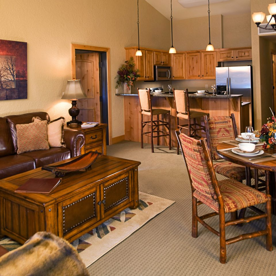 Kitchen Lodge Suite property chair living room home hardwood cottage recreation room condominium