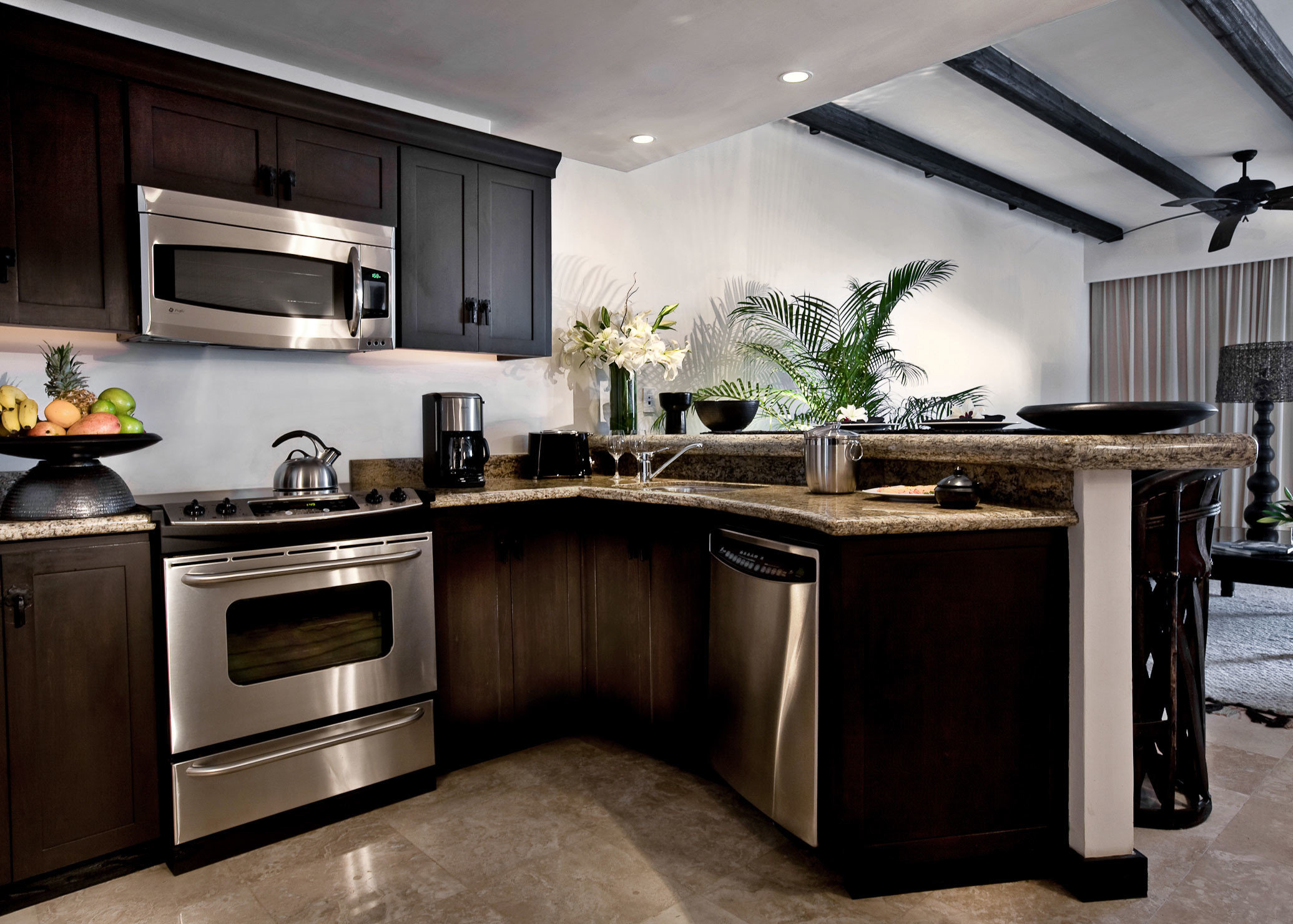Kitchen Modern cabinet property countertop cabinetry home appliance hardwood cuisine classique living room cuisine stainless kitchen appliance steel