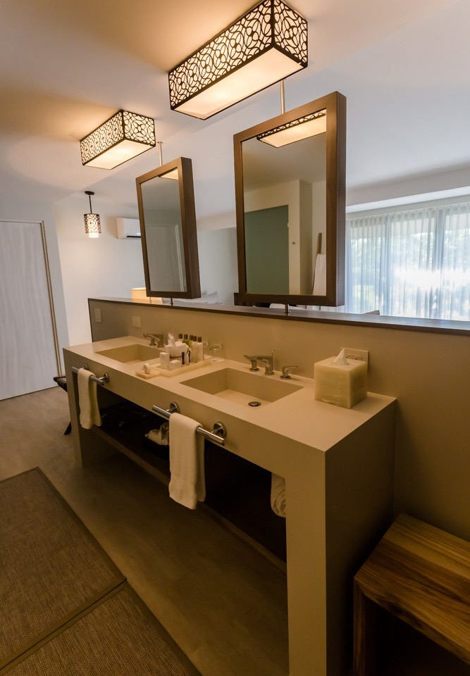 bathroom mirror property sink house home hardwood lighting Kitchen living room cabinetry Modern