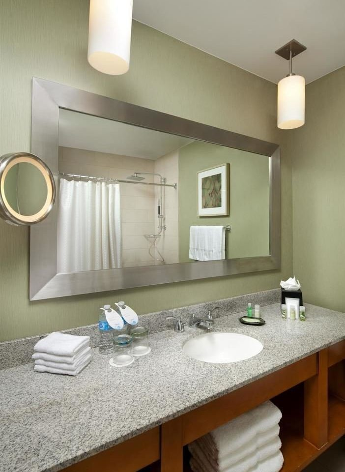 bathroom sink mirror property countertop home Kitchen counter lighting cottage material Modern