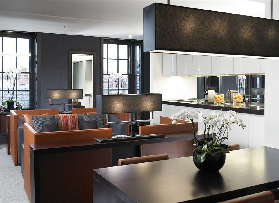 property living room cabinetry Kitchen home lighting condominium countertop loft Modern