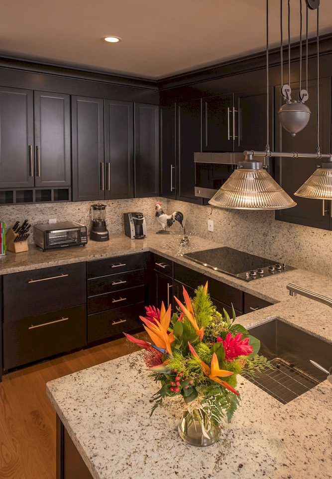 property Kitchen countertop home flower house hardwood lighting flooring living room wood flooring Modern