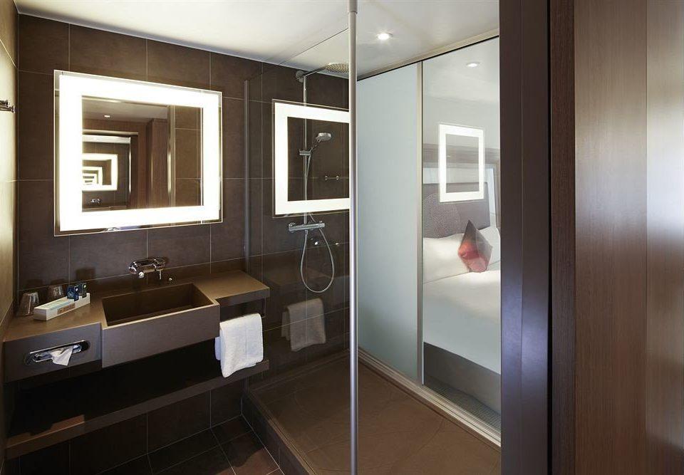 bathroom mirror property sink cabinetry home Kitchen Suite Modern