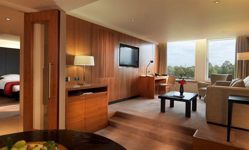property condominium home hardwood Suite living room Kitchen cabinetry wood flooring cottage hard Modern flat
