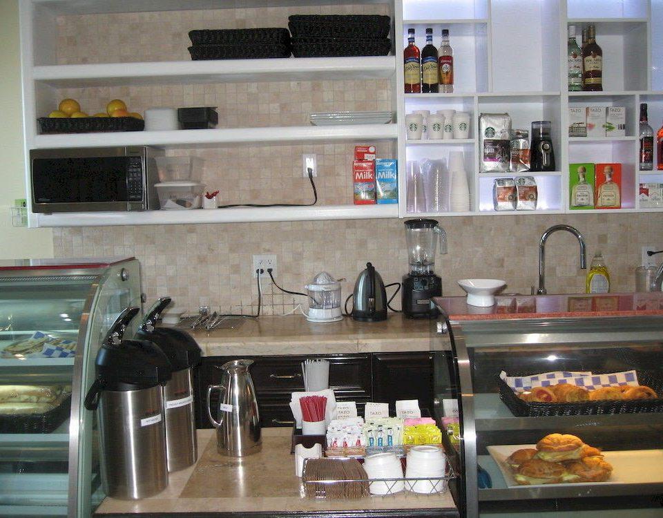 Resort food Kitchen counter restaurant cluttered kitchen appliance
