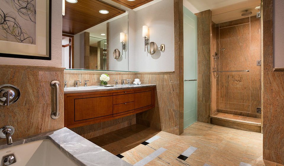 bathroom property mirror sink cabinetry countertop home hardwood cuisine classique flooring Kitchen cottage wood flooring Suite