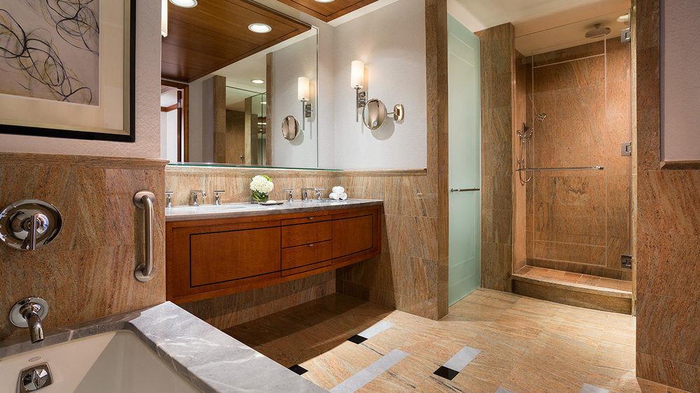 bathroom property mirror sink cabinetry countertop home hardwood cuisine classique flooring Kitchen cottage wood flooring Suite