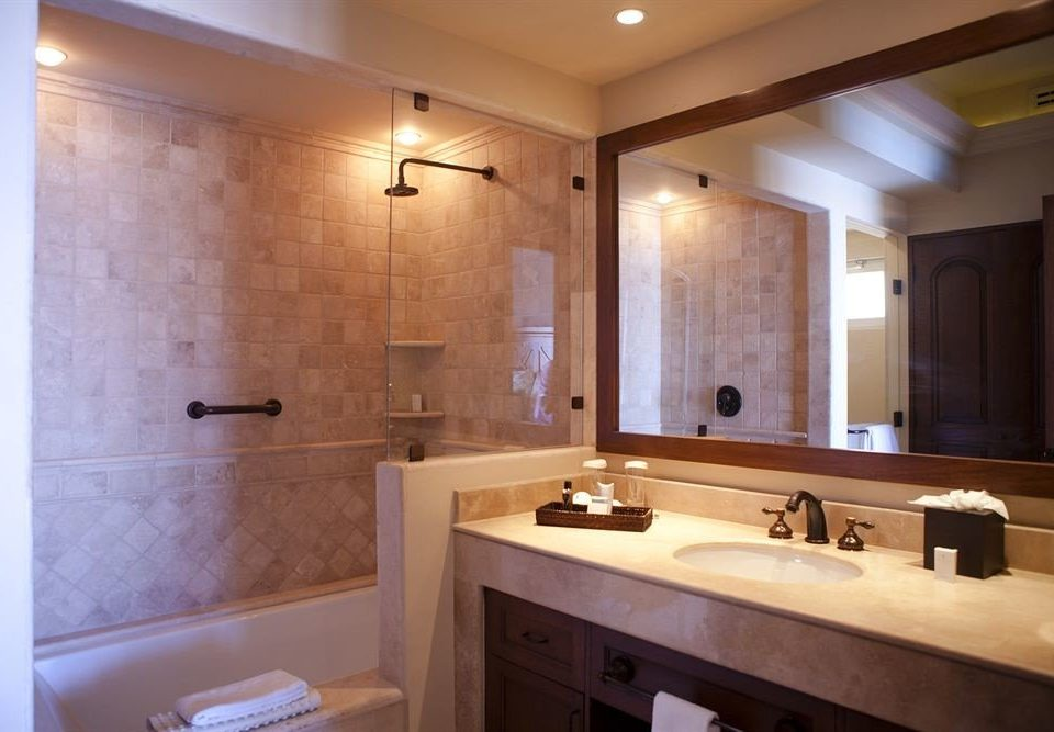 bathroom mirror property sink home cabinetry Suite plumbing fixture tile Kitchen