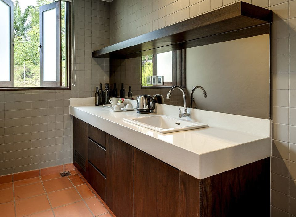 bathroom property sink home countertop cabinetry cottage Kitchen Suite plumbing fixture tile tiled