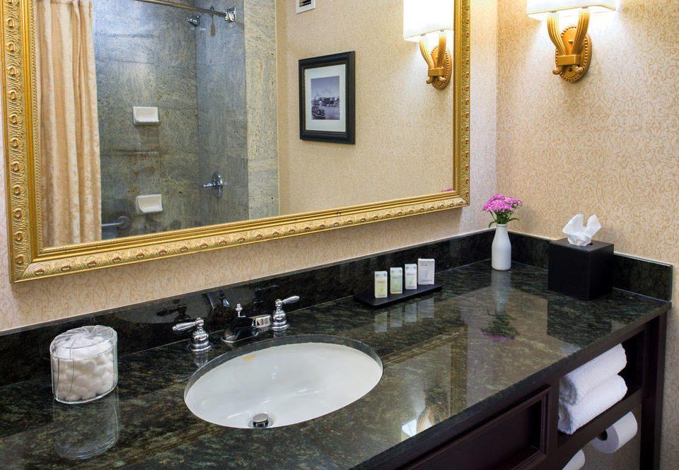 bathroom sink mirror property countertop double counter home vanity towel flooring Suite plumbing fixture material Kitchen clean