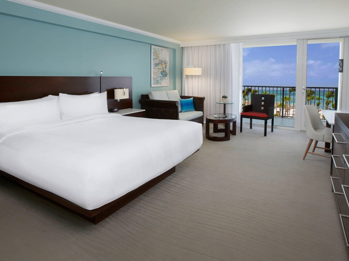 Aruba caribbean Hotels indoor floor wall room ceiling bed Suite hotel real estate furniture interior design Bedroom flooring