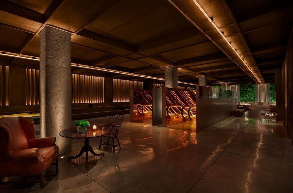 Boutique Hotels Festivals + Events Hotels Trip Ideas floor indoor ceiling room Lobby interior design lighting furniture several