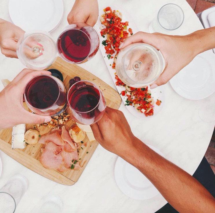 Trip Ideas Weekend Getaways table food indoor person pink organ hand flower sense human body ear meal