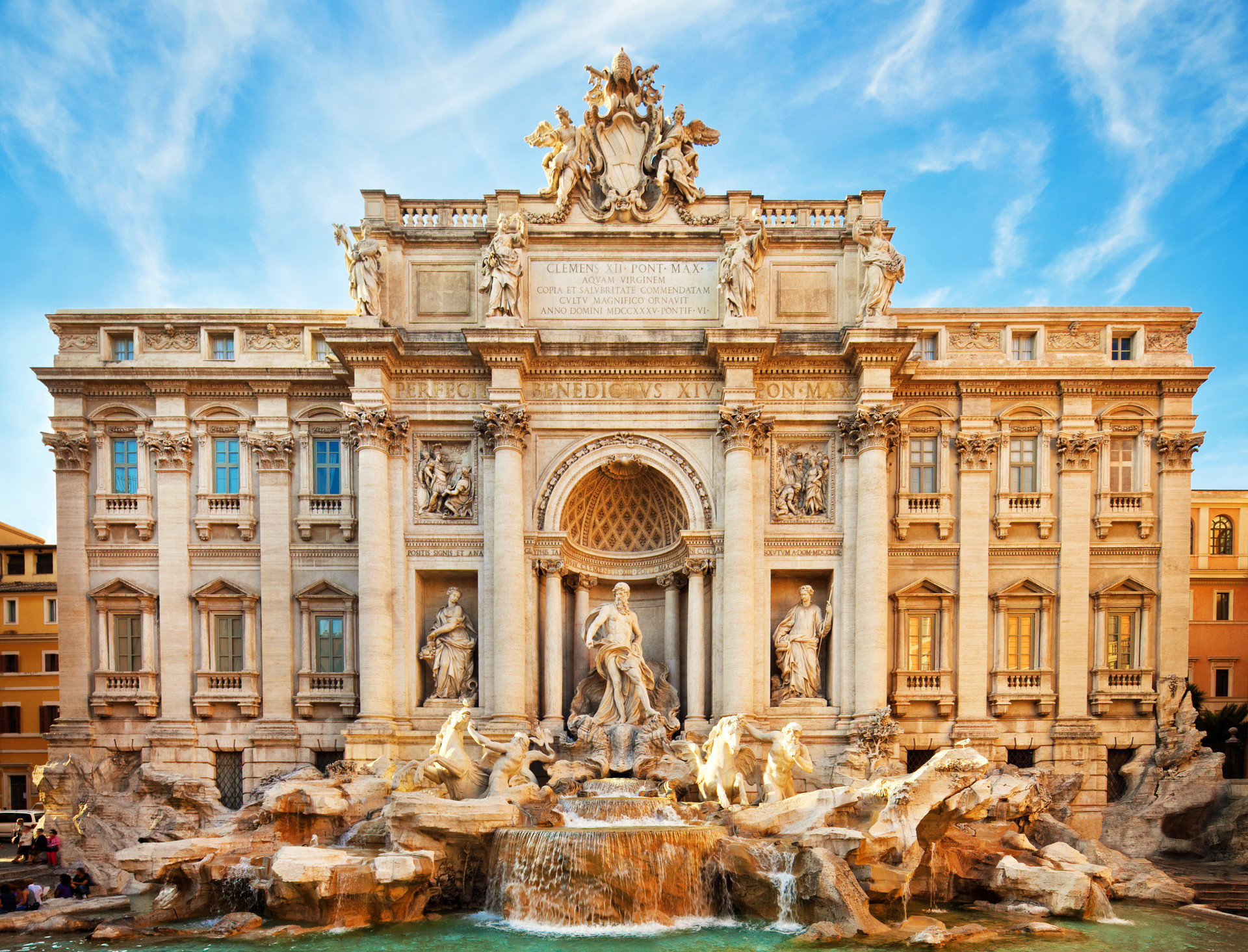 Arts + Culture Landmarks Travel Tips Trip Ideas building sky outdoor landmark fountain historic site ancient rome palace human settlement ancient history Architecture plaza water feature ancient roman architecture facade monument basilica stone