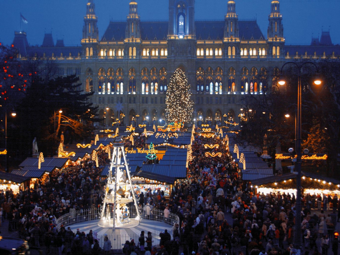 europe Trip Ideas outdoor crowd metropolis landmark night City human settlement light evening cityscape Downtown Resort town square ice rink Christmas amusement park bunch