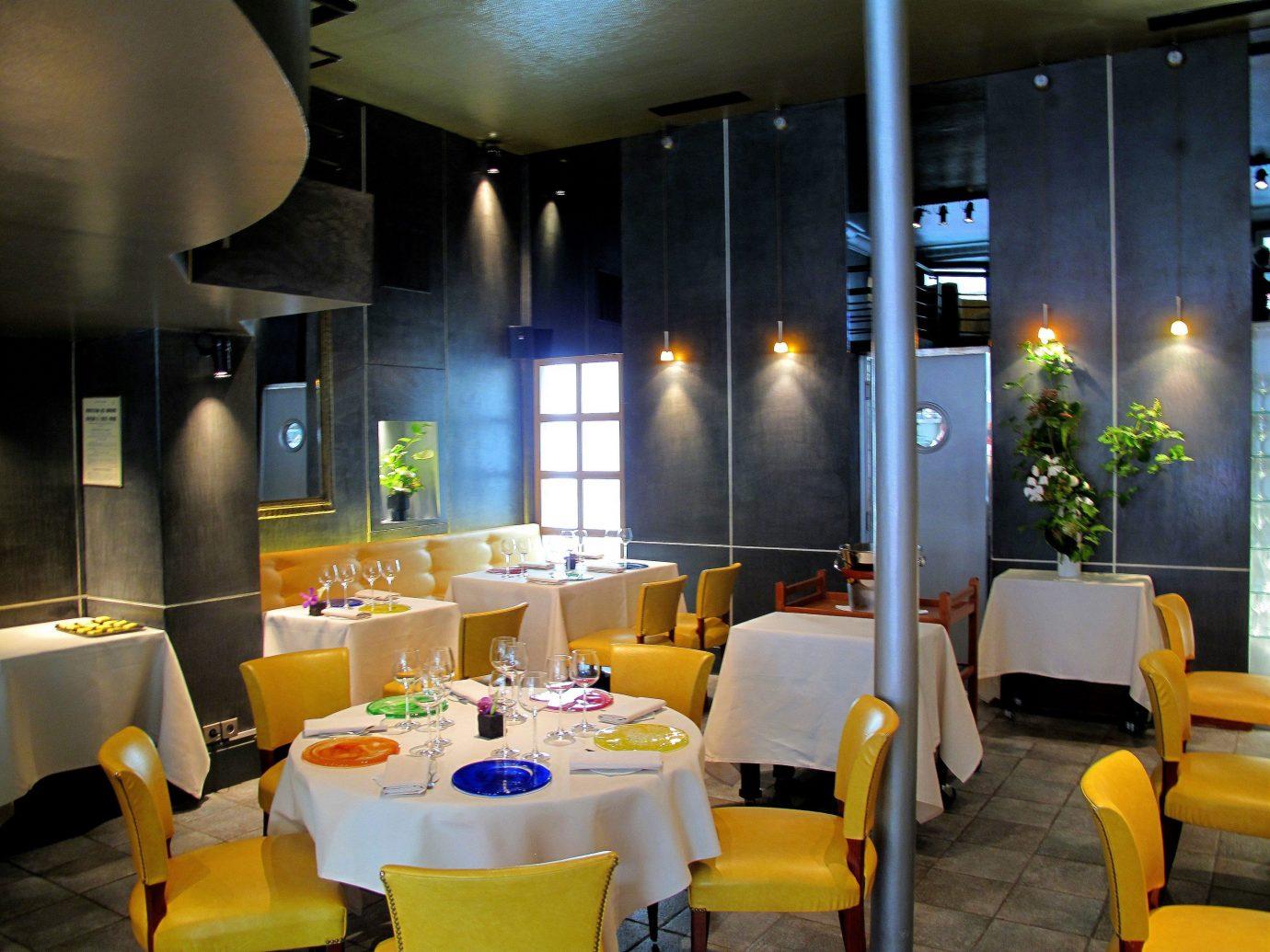 Food + Drink table indoor restaurant room ceiling interior design function hall meal lighting Lobby Design Bar