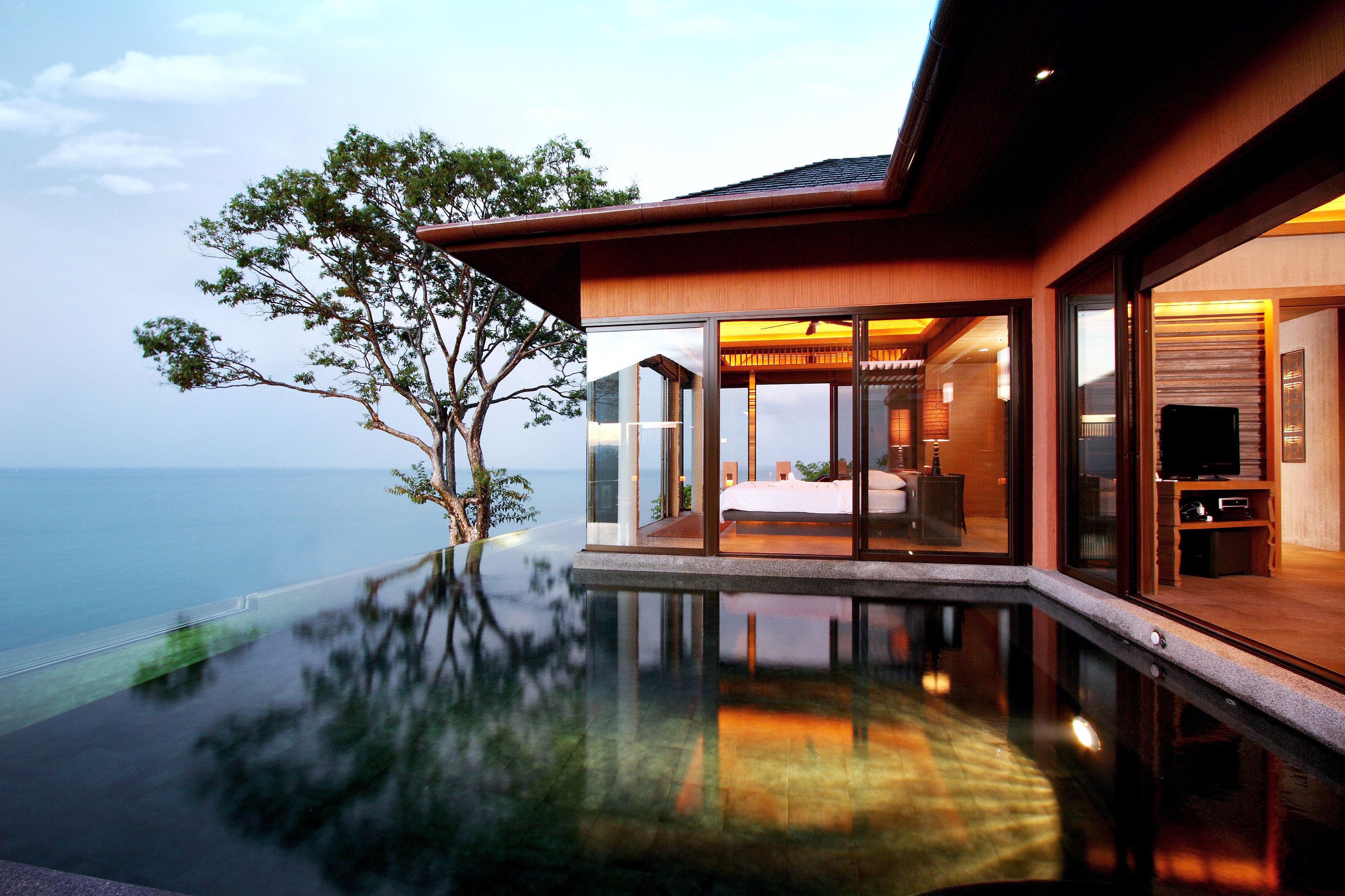 Beach Elegant Exterior Hotels Luxury Modern Patio Phuket Pool Thailand Trip Ideas sky outdoor property house estate home Resort vacation Villa real estate mansion condominium several