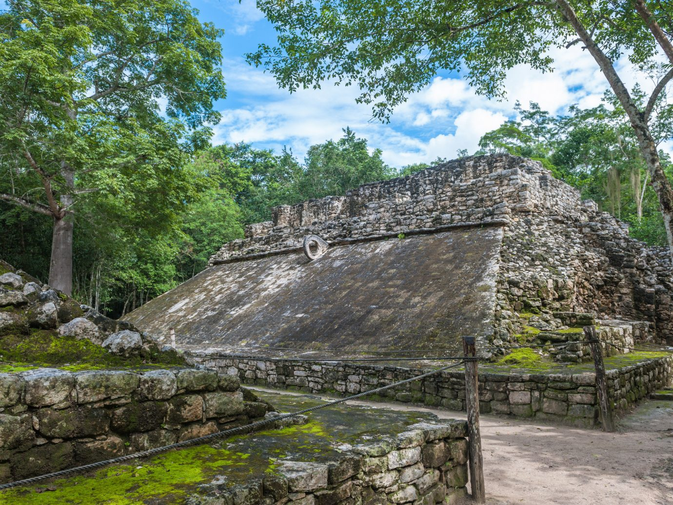 City Mexico Trip Ideas Tulum tree outdoor rock archaeological site stone Ruins ancient history outcrop maya civilization stone wall landscape plant maya city Jungle old area surrounded