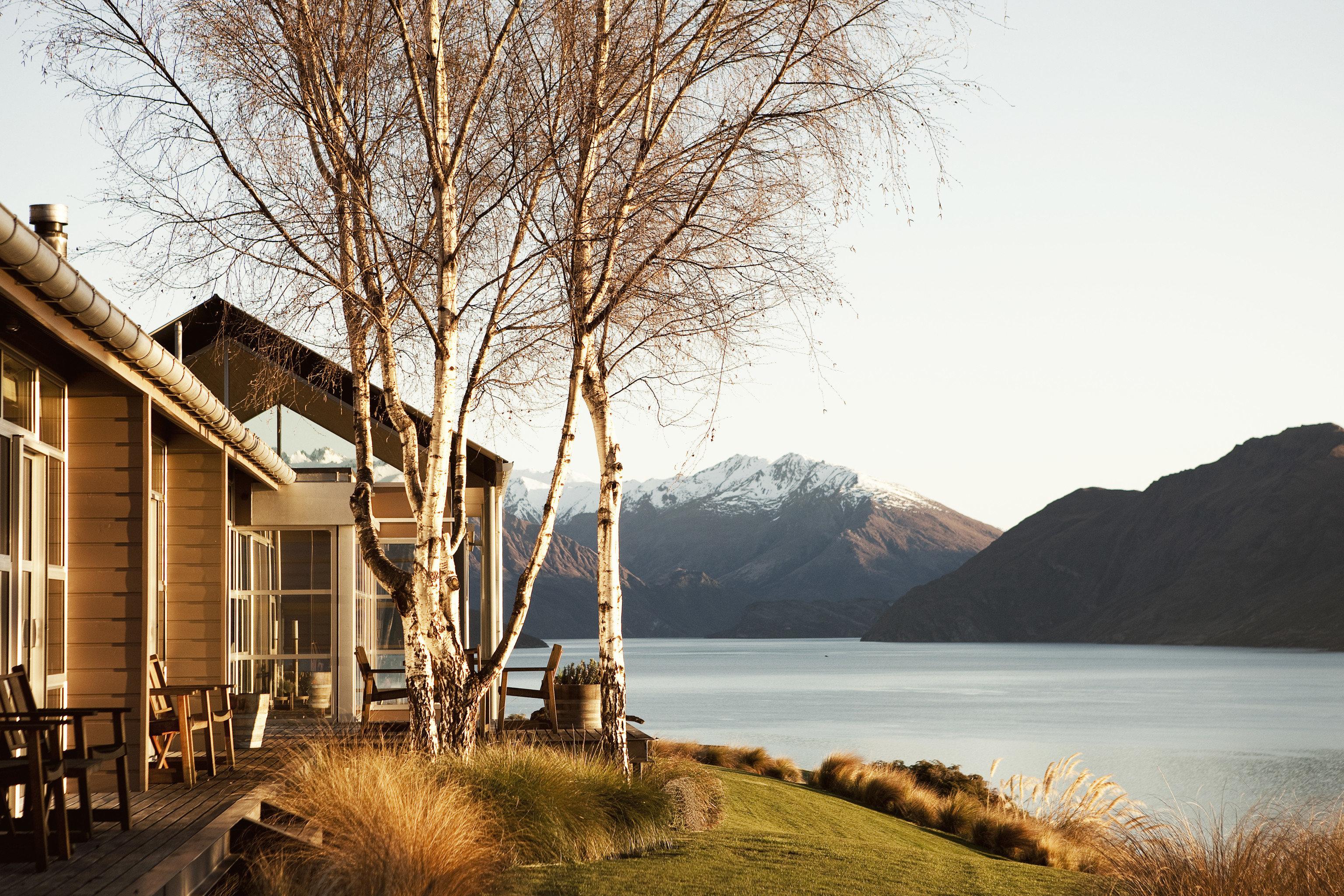 Hotels Luxury Travel Mountains + Skiing sky outdoor tree house mountain morning Winter season Nature evening landscape sunlight