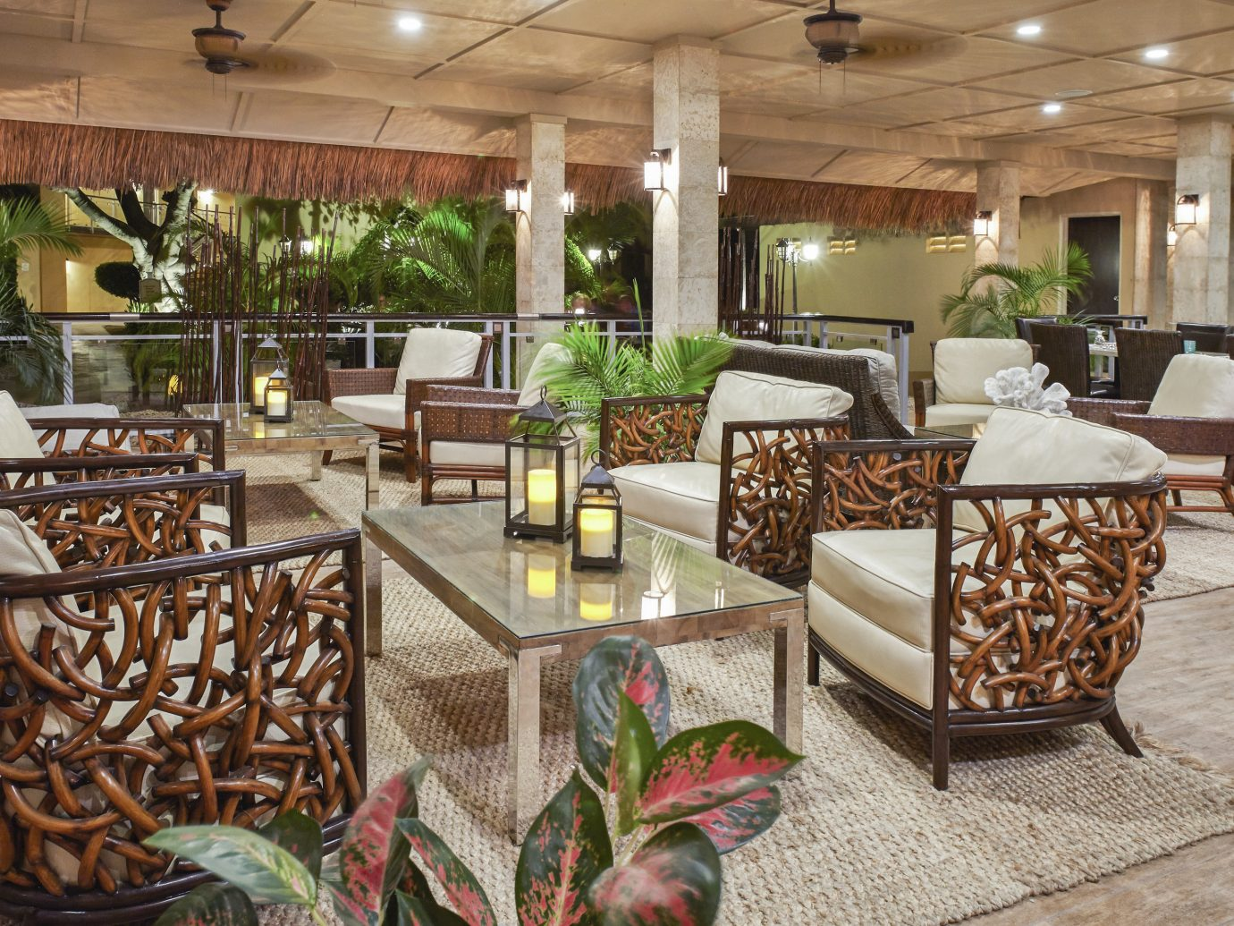 Aruba caribbean Hotels indoor chair floor property Lobby room ceiling estate restaurant home interior design real estate furniture Design area
