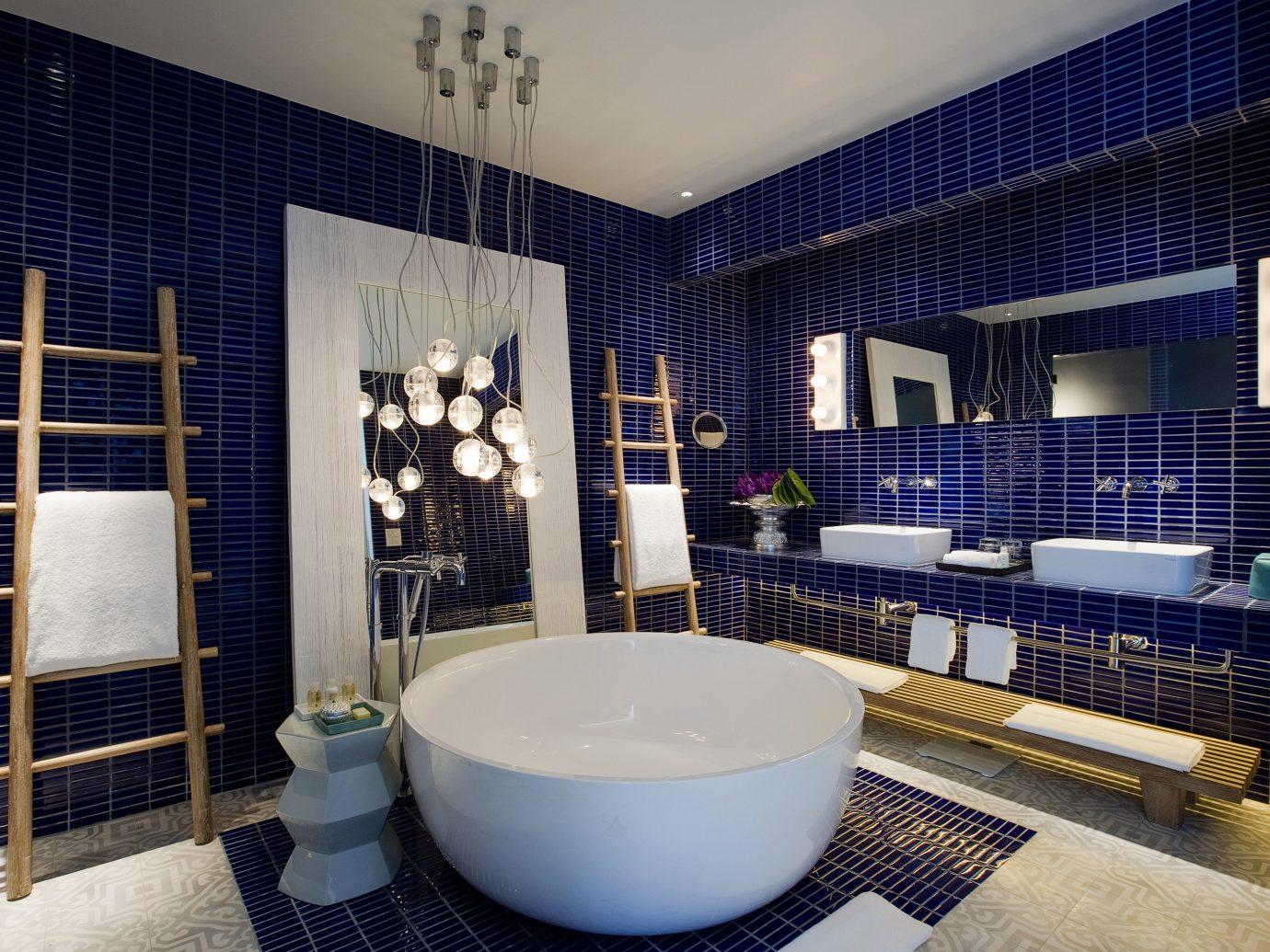 Beach Hotels Phuket Thailand indoor floor room bathroom interior design Architecture estate home real estate angle interior designer house window tile tub tiled bathtub