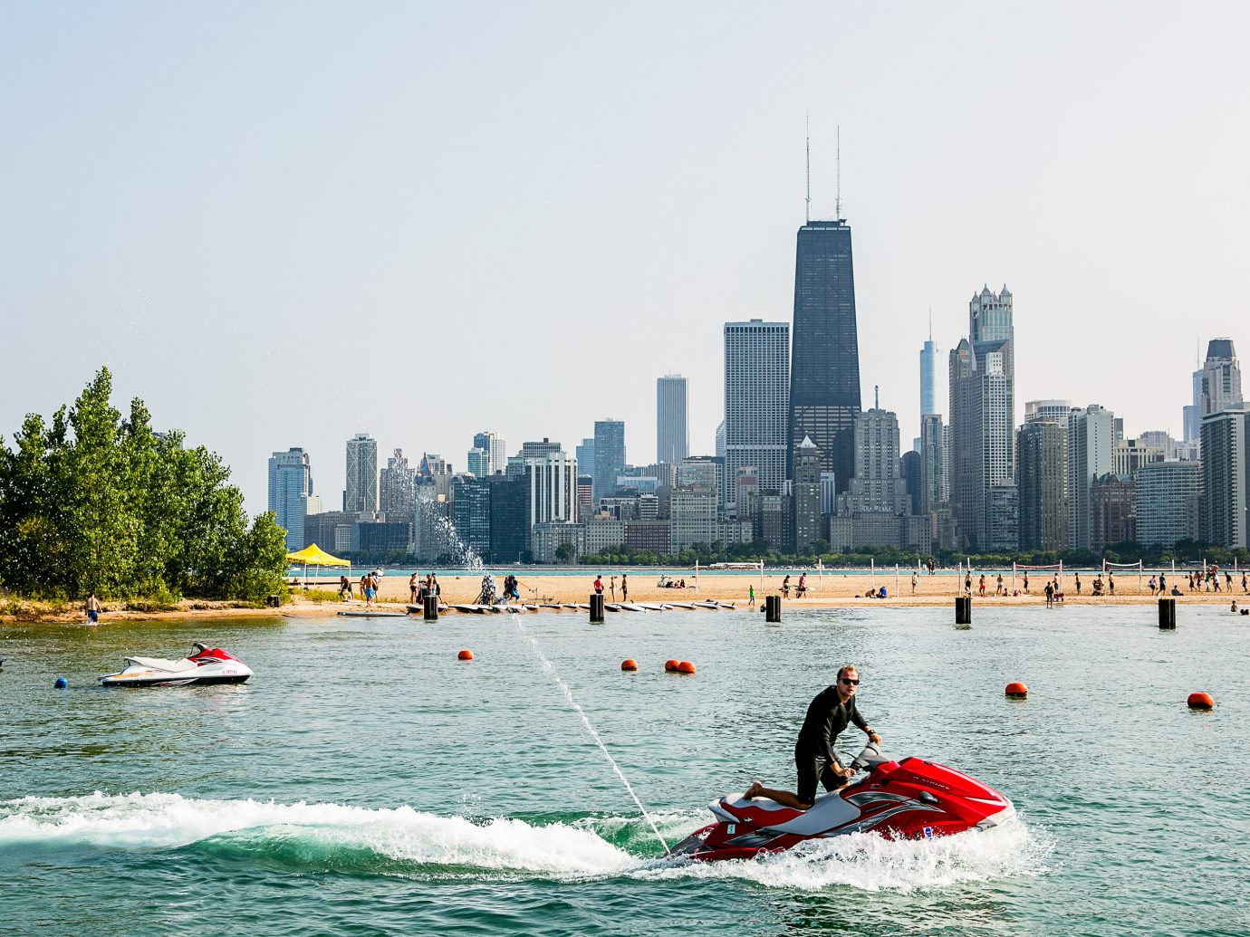North Avenue Beach Trip Ideas water outdoor sky boating Boat vehicle Sport City Lake River skyline Sea watercraft kayak bay day