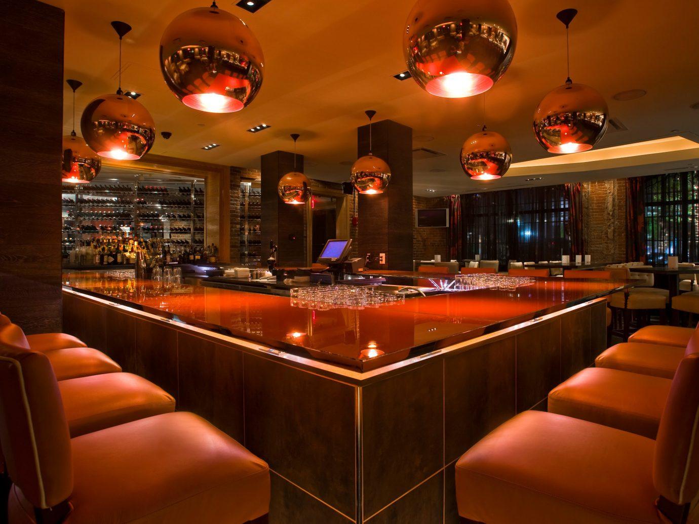 Bar Dining Drink Eat Food + Drink Historic Luxury Modern indoor room restaurant function hall meal interior design furniture