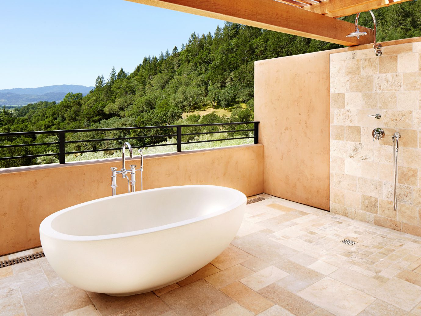 Bath Cultural Elegant Grounds Honeymoon Hotels Luxury Mountains Natural wonders Outdoor Activities Outdoors Resort Romance Romantic Scenic views Spa Vineyard Winery room property swimming pool bathtub floor plumbing fixture bidet bathroom estate flooring sink tub stone tiled