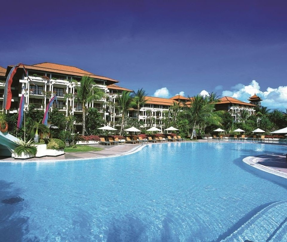 sky water swimming pool Resort property leisure marina Pool Nature condominium resort town caribbean dock Water park blue Lagoon shore lined swimming
