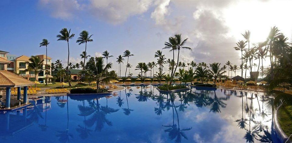 sky tree Resort swimming pool Nature arecales marina dock Lagoon docked day