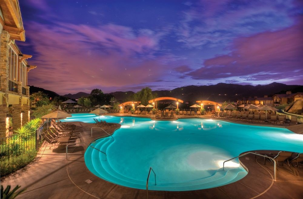 swimming pool Resort blue Ocean Sea evening Pool dusk Lagoon