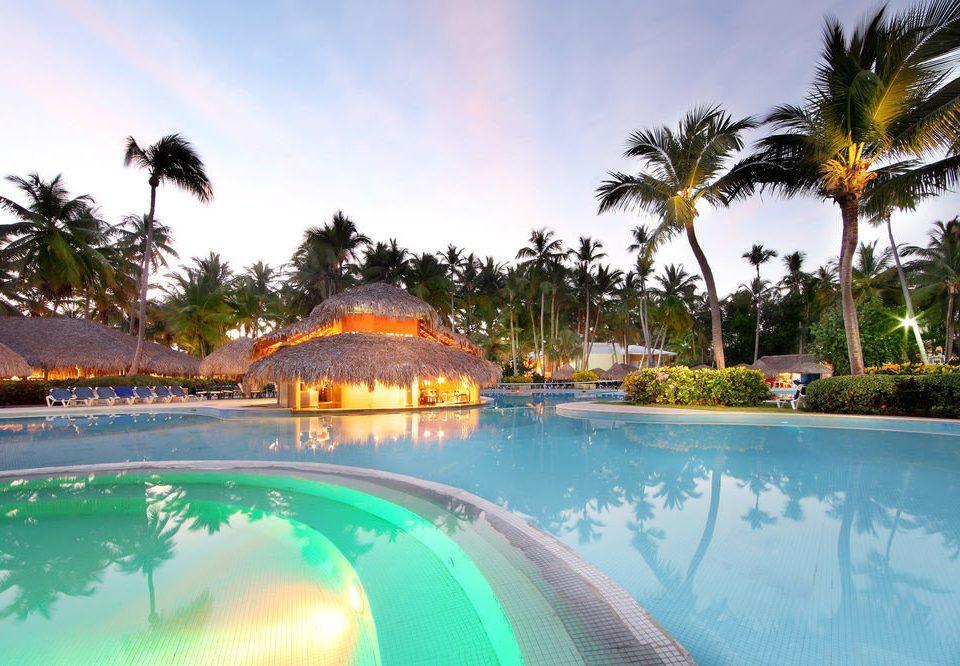 tree sky palm Pool swimming pool leisure Resort Water park resort town caribbean amusement park Lagoon Villa swimming shore