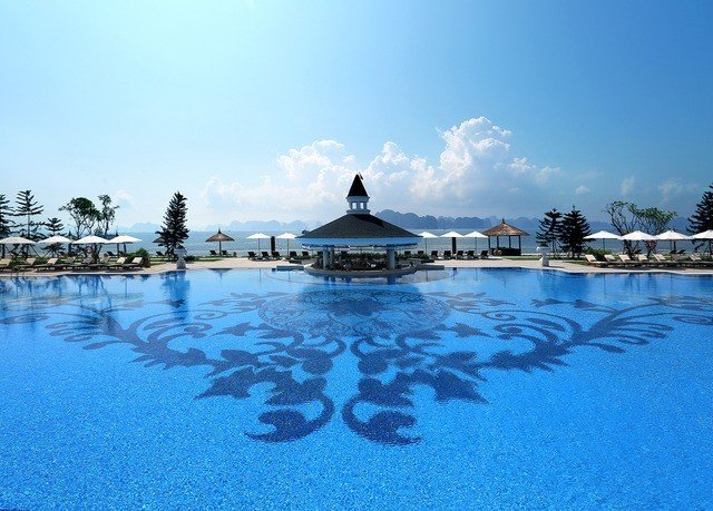 sky water swimming pool Resort resort town swimming marina Lagoon Sea day