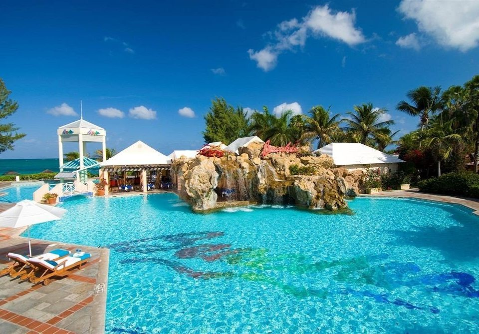 sky swimming pool property Resort caribbean leisure blue Lagoon resort town Villa Sea swimming