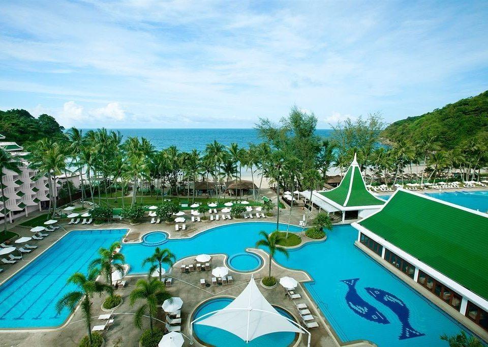 sky umbrella swimming pool leisure Resort property caribbean lawn resort town Water park Villa Lagoon amusement park lined swimming