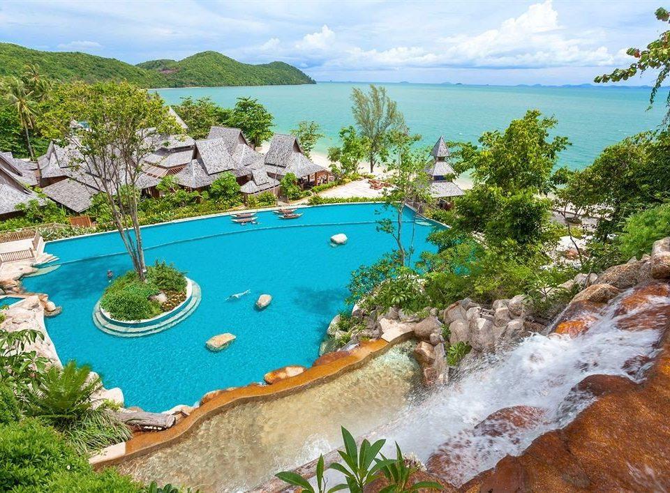 tree sky swimming pool mountain Resort resort town Lagoon caribbean Water park hillside