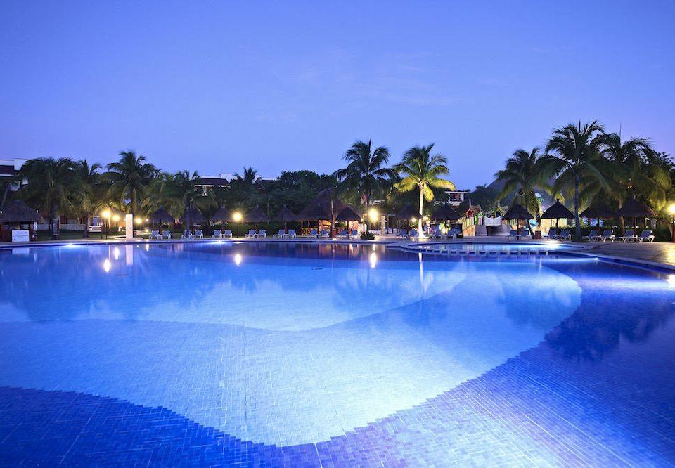 water sky Pool swimming pool Resort leisure Nature reflecting pool resort town Lake blue swimming night