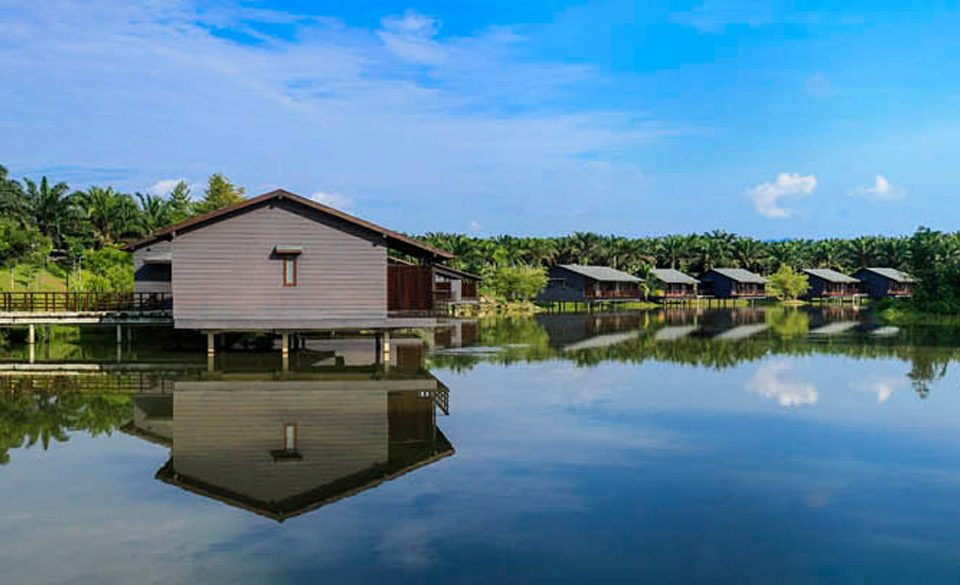 sky water tree house Lake Nature River boathouse reservoir waterway dock pond surrounded