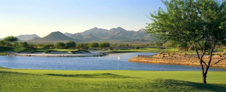 grass water sky mountain Lake Nature grassland sport venue golf course reservoir golf club River loch panorama meadow shore land highland