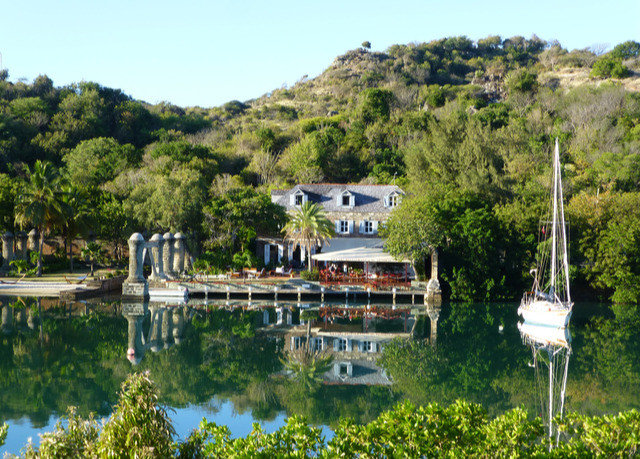 tree sky water Town Resort Lake Village