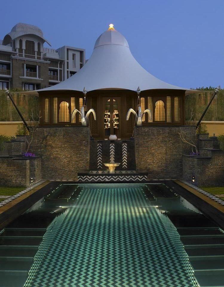 sky landmark swimming pool platform waterway metal walkway