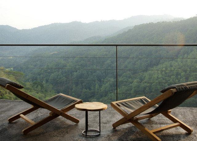 sky water mountain leisure wooden overlooking seat