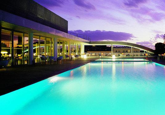 swimming pool leisure night