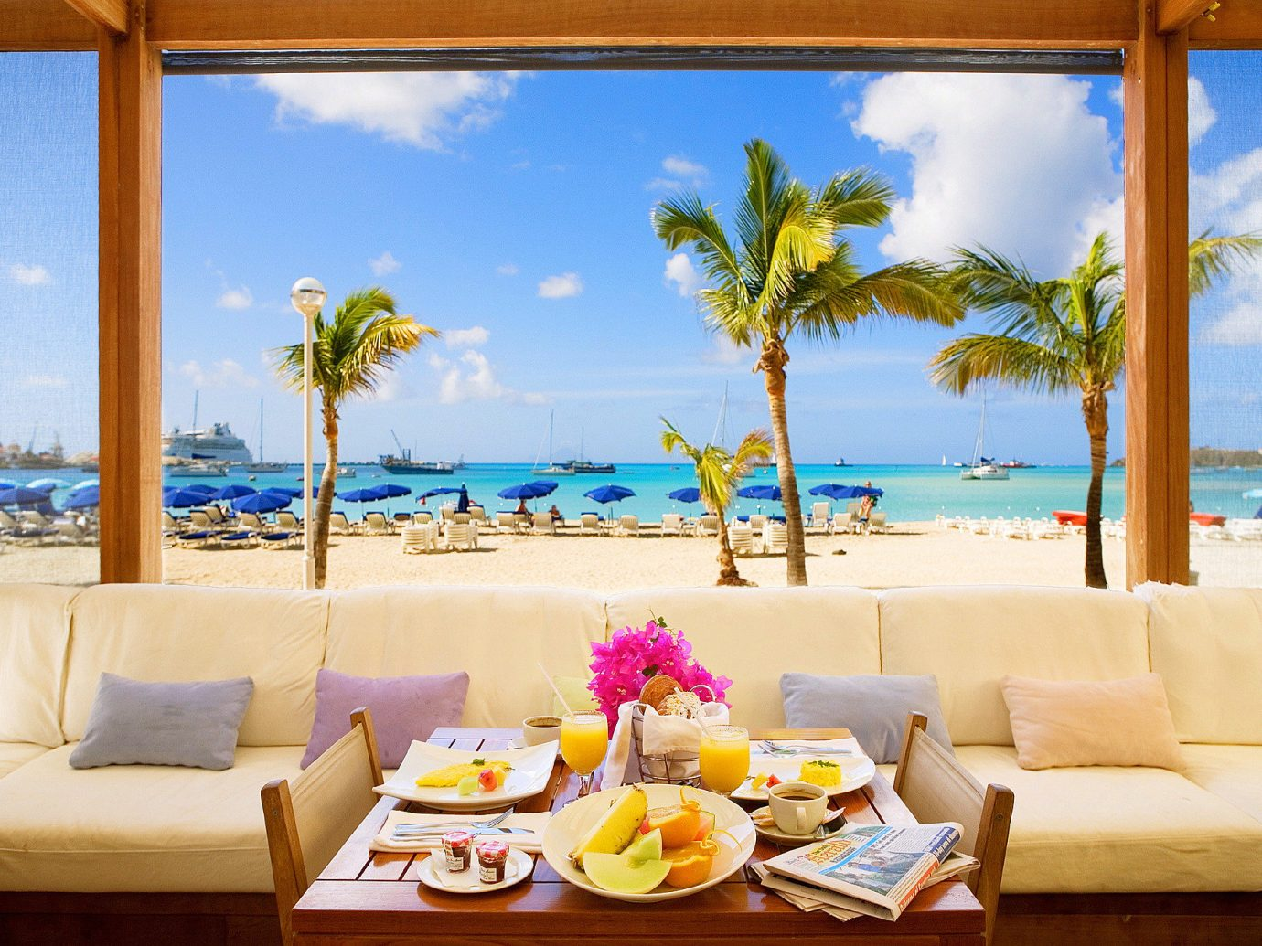 Hotels table window leisure vacation indoor caribbean Living Resort Beach estate Ocean home Sea swimming pool Villa furniture decorated