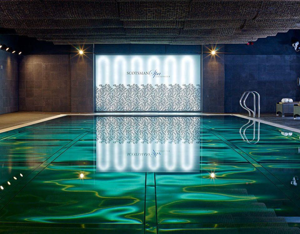 swimming pool stage light lighting nightclub music venue scenographer