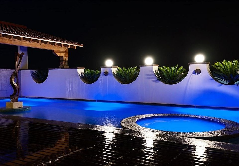 swimming pool night light lighting nightclub