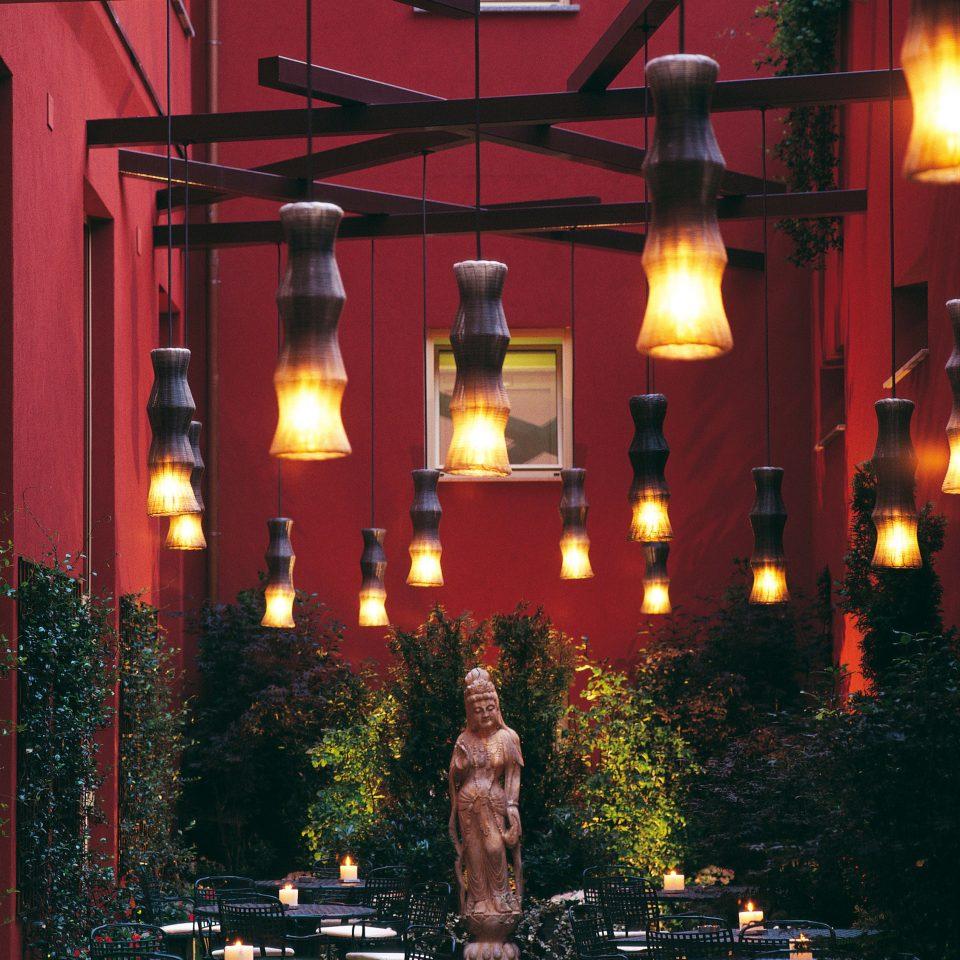tree light lighting restaurant night