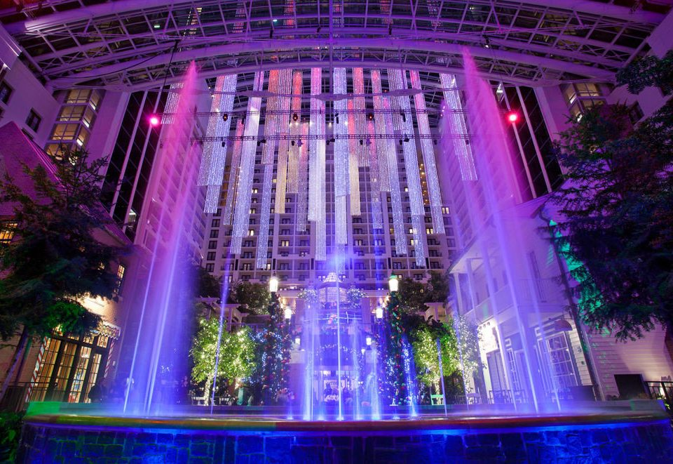 night light stage nightclub water feature