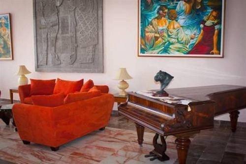 property living room orange modern art painting