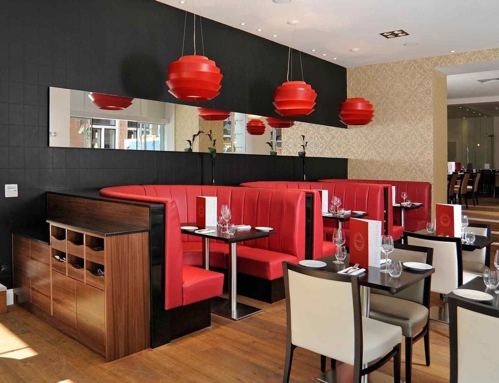 red restaurant living room